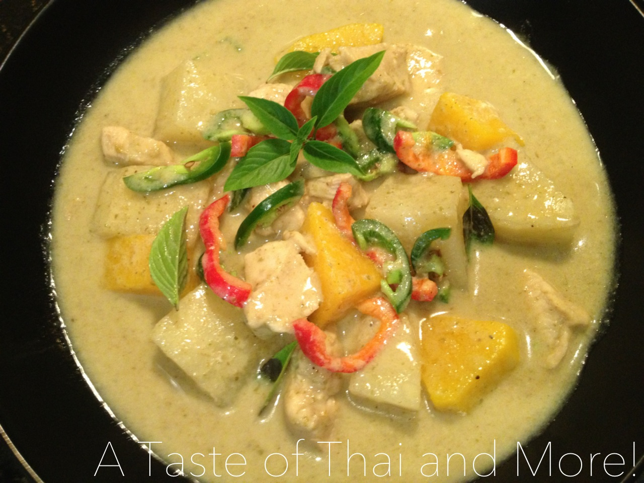 Thai Green Curry with Chicken (or vegetarian) – Gaeng Kiaw Wan Gai