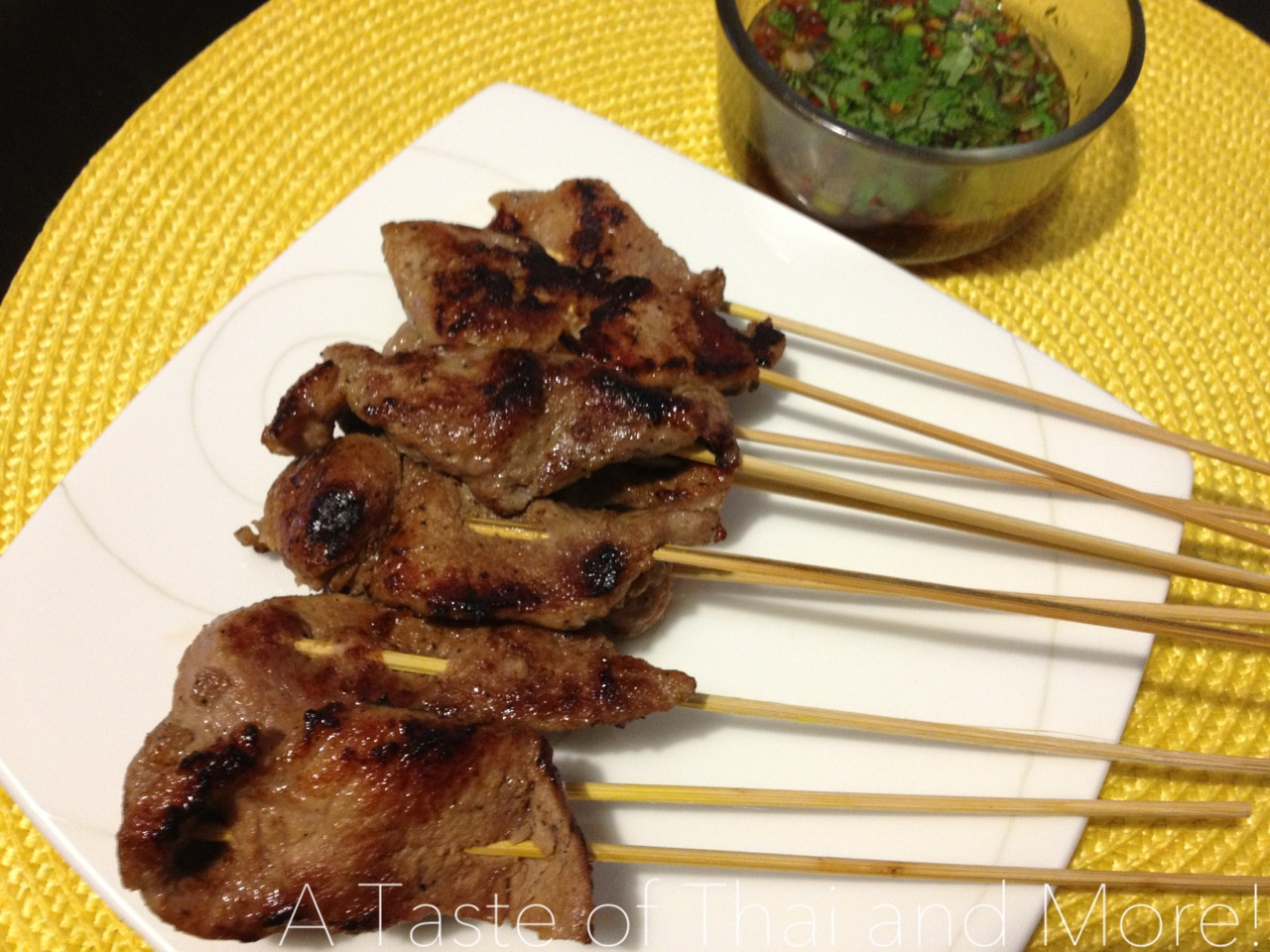 Thai Grilled Pork with Dried-Chili Dipping Sauce – Mu Ping-Nam Jim ...