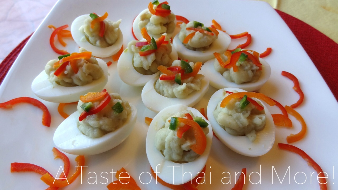 Green-Curry Deviled Eggs | A Taste of Thai and More!